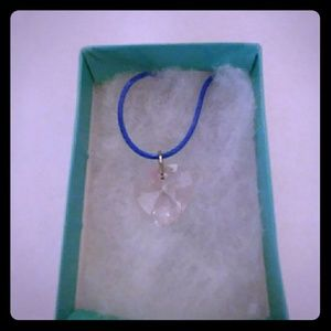 Jewelry - Garden Pink Crystal Heart Necklace